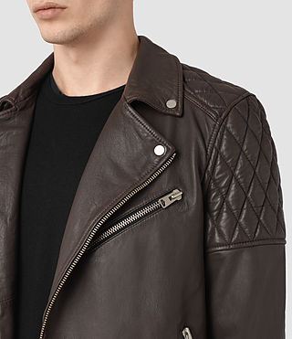 Herren Boyson Leather Biker Jacket (ANTHRACITE GREY) - product_image_alt_text_3