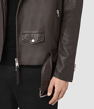 Herren Boyson Leather Biker Jacket (ANTHRACITE GREY) - product_image_alt_text_5