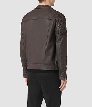 Herren Boyson Leather Biker Jacket (ANTHRACITE GREY) - product_image_alt_text_6