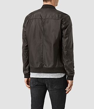 Hombre Mower Leather Bomber Jacket (Slate Grey) - product_image_alt_text_4