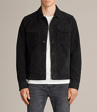 Men's Blake Suede Jacket (Black) -