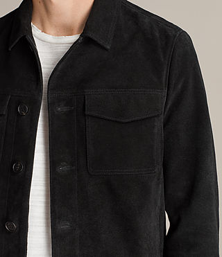 Men's Blake Suede Jacket (Black) - product_image_alt_text_2