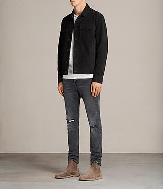 Men's Blake Suede Jacket (Black) - product_image_alt_text_3