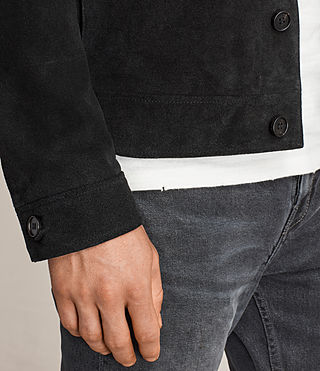 Men's Blake Suede Jacket (Black) - product_image_alt_text_5