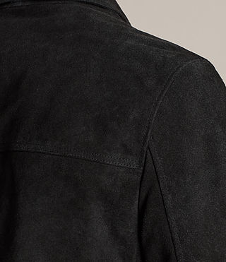 Men's Blake Suede Jacket (Black) - product_image_alt_text_6
