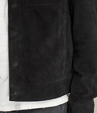 Men's Blake Suede Jacket (Black) - product_image_alt_text_7