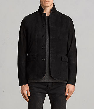 Men's Liath Suede Blazer (Black) - Image 1
