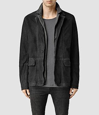 Mens Storm Leather Blazer (Anthracite)