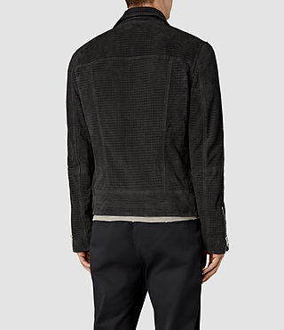 Uomo Miller Perforated Suede Biker (Washed Black) - product_image_alt_text_4