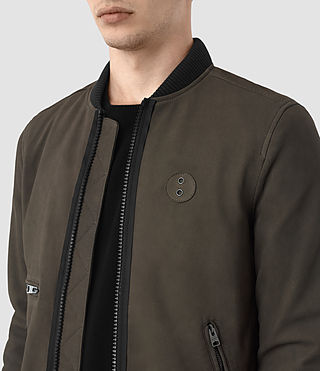 Hommes Bomber Wray en cuir velours (DARK SLATE GREY) - product_image_alt_text_3