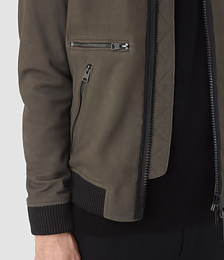 Hommes Bomber Wray en cuir velours (DARK SLATE GREY) - product_image_alt_text_5