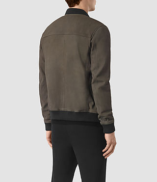 Hommes Bomber Wray en cuir velours (DARK SLATE GREY) - product_image_alt_text_6