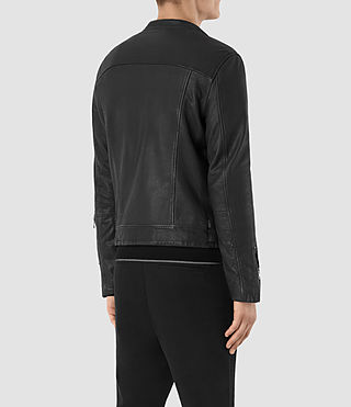 Men's Kline Leather Biker Jacket (Black) - product_image_alt_text_7
