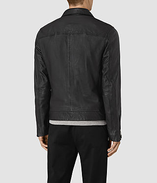 Herren Hokusai Leather Jacket (Black) - product_image_alt_text_5