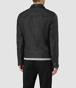 Men's Hokusai Leather Jacket (Black) - product_image_alt_text_5