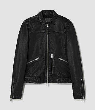 Hombre Hokusai Leather Jacket (Black) - product_image_alt_text_6