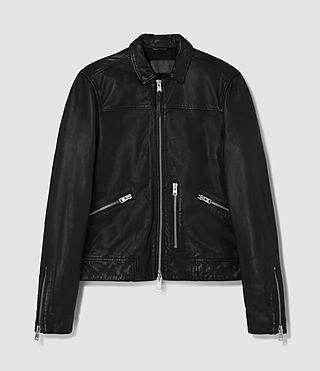 Men's Hokusai Leather Jacket (Black) - product_image_alt_text_6