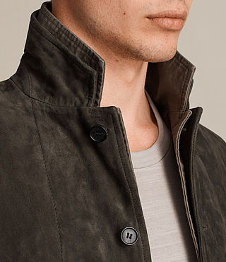 Men's Huxton Leather Blazer (ANTHRACITE/KHAKI) - Image 2