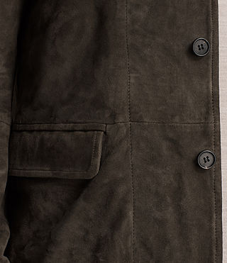 Men's Huxton Leather Blazer (ANTHRACITE/KHAKI) - Image 4