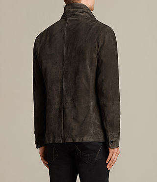 Men's Huxton Leather Blazer (ANTHRACITE/KHAKI) - Image 8