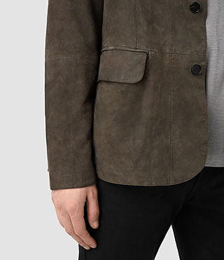 Mens Felton Suede Blazer (DARK SLATE GREY) - product_image_alt_text_3