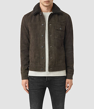Mens Wilmont Suede Jacket (DARK SLATE GREY)
