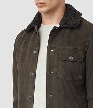 Hombres Wilmont Suede Jacket (DARK SLATE GREY) - product_image_alt_text_2