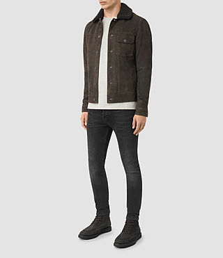Hombres Wilmont Suede Jacket (DARK SLATE GREY) - product_image_alt_text_3
