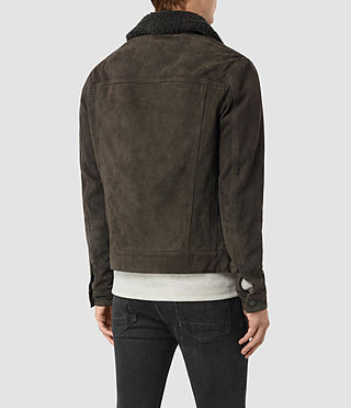 Hombres Wilmont Suede Jacket (DARK SLATE GREY) - product_image_alt_text_4