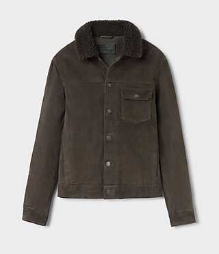 Hombres Wilmont Suede Jacket (DARK SLATE GREY) - product_image_alt_text_5