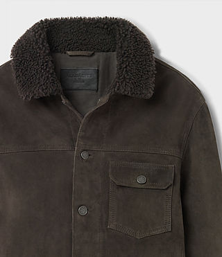 Hombres Wilmont Suede Jacket (DARK SLATE GREY) - product_image_alt_text_6