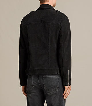 Men's Nash Suede Biker Jacket (Washed Black) - product_image_alt_text_8
