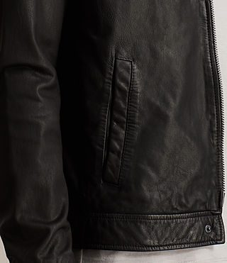 Men's Stretner Leather Jacket (Black) - product_image_alt_text_6