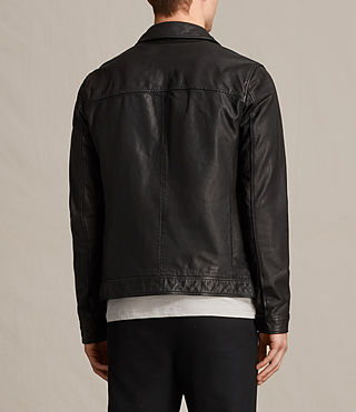 Men's Stretner Leather Jacket (Black) - product_image_alt_text_8