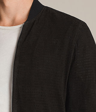 Hommes Perring Suede Bomber Jacket (Black) - product_image_alt_text_2