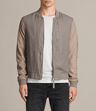 Hombre Devon Bomber Jacket (STEEL/PUTTY) - product_image_alt_text_1