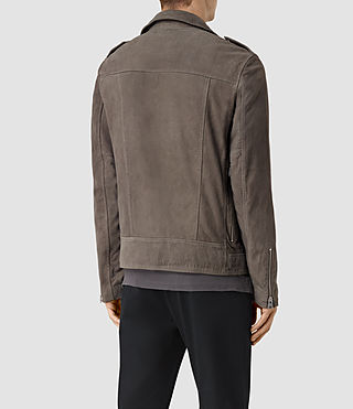 Uomo Niko Leather Biker Jacket (Steel Grey) - product_image_alt_text_4