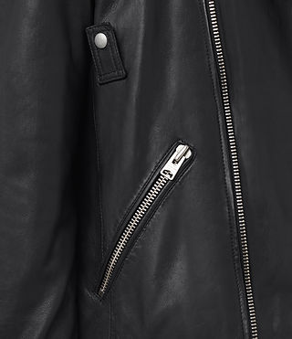 Mens Odell Leather Biker Jacket (INK NAVY) - product_image_alt_text_4