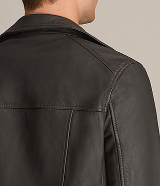 Men's Dario Leather Biker Jacket (ANTHRACITE GREY) - product_image_alt_text_5