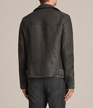 Men's Dario Leather Biker Jacket (ANTHRACITE GREY) - product_image_alt_text_6