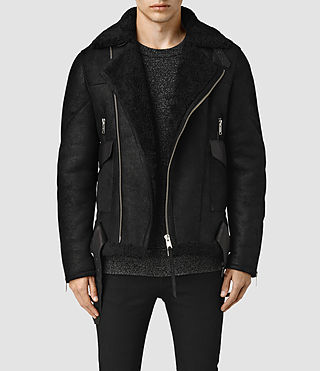 Mens Takoma Shearling Jacket (Black)