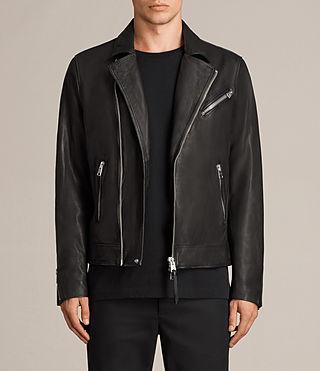 Allsaints Uk Mens Conroy Leather Biker Jacket Ink Navy