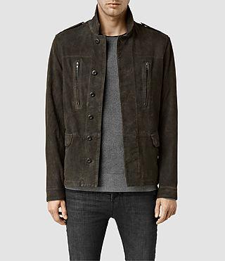 Mens Sargent Leather Blazer (Military)
