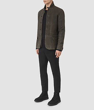 Hommes Emerson Leather Blazer (Cement) - product_image_alt_text_2