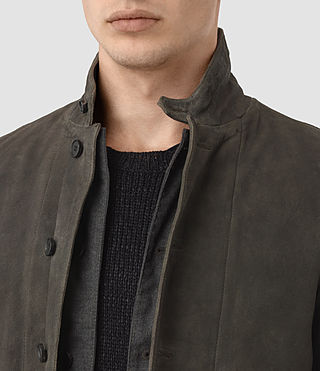 Hommes Emerson Leather Blazer (Cement) - product_image_alt_text_4