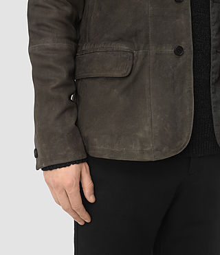 Hommes Emerson Leather Blazer (Cement) - product_image_alt_text_5