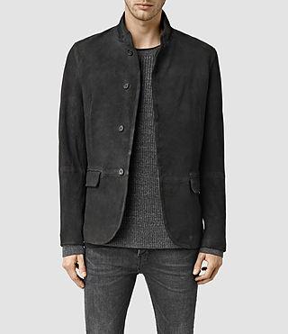Mens Aspen Leather Blazer (Black)