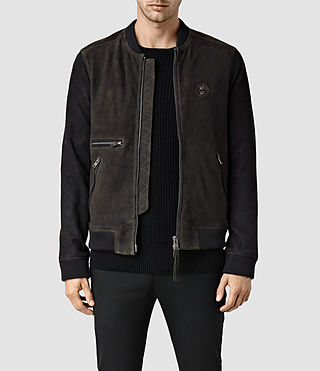 Mens Freight Suede Bomber (ANTHRACITE GREY)