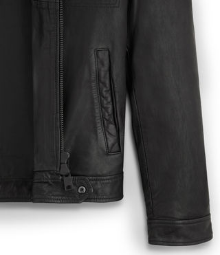 Mens Lark Leather Jacket (Black) -