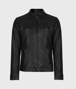 ALLSAINTS CA: Mens Lark Leather Jacket (Black)